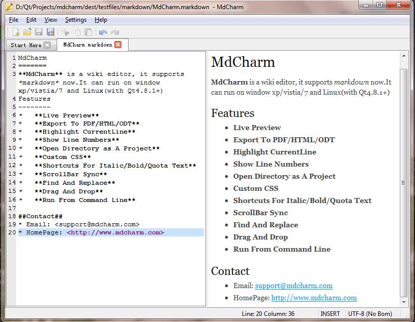 MdCharm para Windows