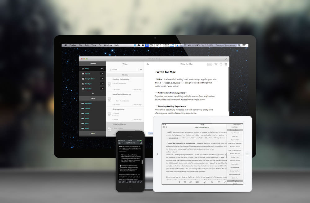Write para Mac iPhone y iPad